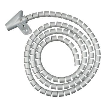 Кабельный органайзер Buro BHP CG22S Spiral Hose 20x2000mm Silver -1