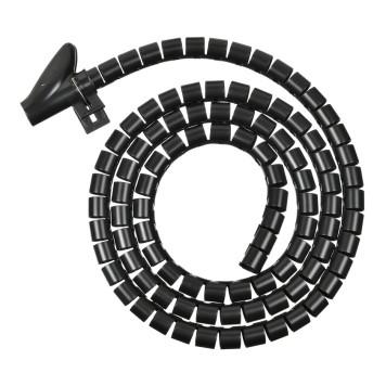Кабельный органайзер Buro BHP CG155B Spiral Hose 15x1500mm Black -1