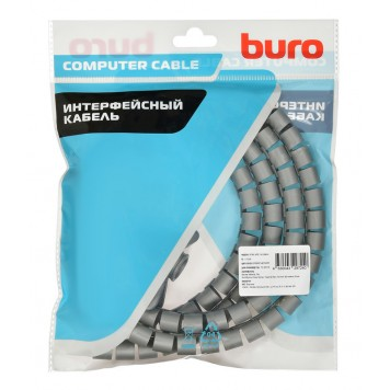 Кабельный органайзер Buro BHP CG155S Spiral Hose 15x1500mm Silver -2