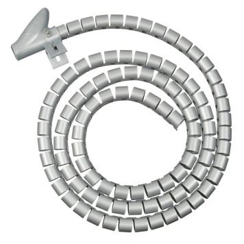 Кабельный органайзер Buro BHP CG155S Spiral Hose 15x1500mm Silver -1