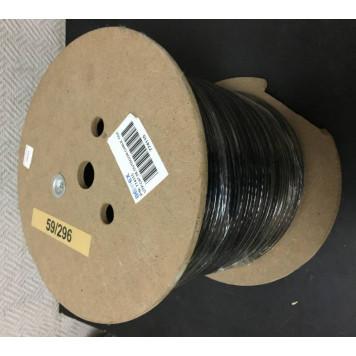 Кабель сетевой UTP 4 пары cat5E solid 0.50мм CCA 305м черный outdoor -1