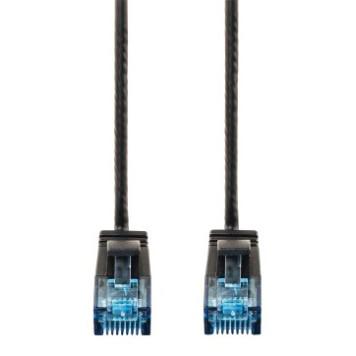 Патч-корд Hama Slim-Flexible UTP 4 пары cat6 1.5м черный RJ-45 (m)-RJ-45 (m) -2