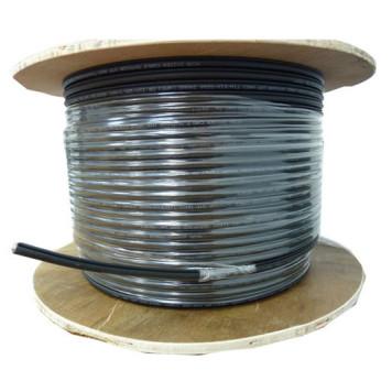 Кабель сетевой UTP 4 пары cat5E solid 0.50мм CCA 305м черный outdoor