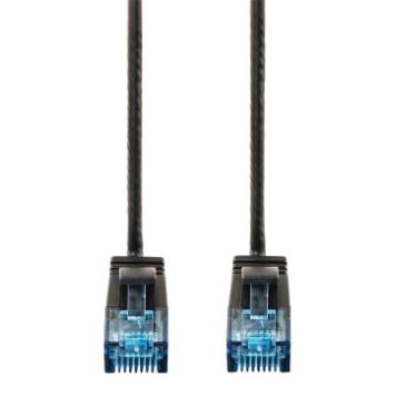 Патч-корд Hama Slim-Flexible UTP 4 пары cat6 0.75м черный RJ-45 (m)-RJ-45 (m) -2
