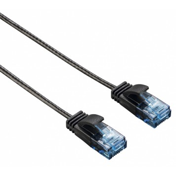Патч-корд Hama Slim-Flexible UTP 4 пары cat6 1.5м черный RJ-45 (m)-RJ-45 (m) -4