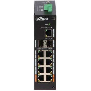 Коммутатор Dahua DH-PFS3211-8GT-120 8G 2SFP 6PoE+ 120W неуправляемый -1