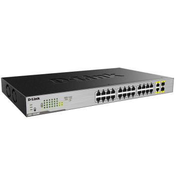 Коммутатор D-Link DGS-1026MP/A1A 24G 24PoE неуправляемый -1