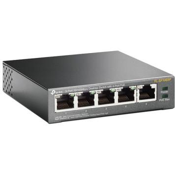 Коммутатор TP-Link TL-SF1005P 5x100Mb 4PoE 58W неуправляемый -3