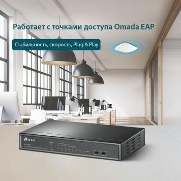 Коммутатор TP-Link TL-SF1008LP 8x100Mb 4PoE 41W неуправляемый -5