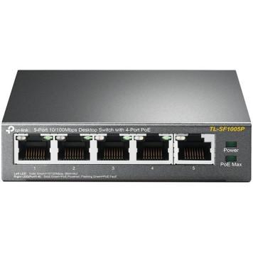 Коммутатор TP-Link TL-SF1005P 5x100Mb 4PoE 58W неуправляемый -4