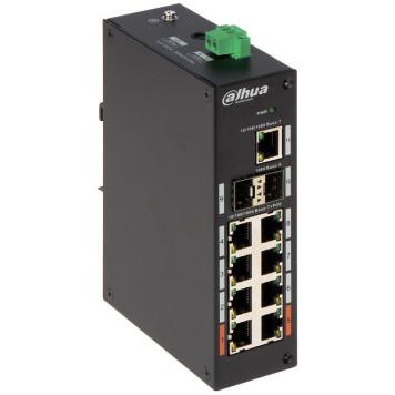 Коммутатор Dahua DH-PFS3211-8GT-120 8G 2SFP 6PoE+ 120W неуправляемый