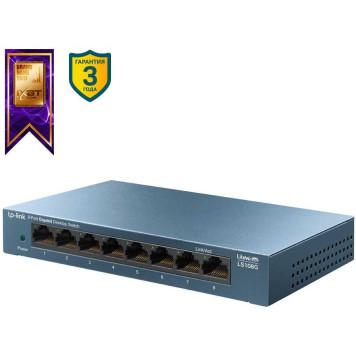 Коммутатор TP-Link LS108G 8G неуправляемый -5