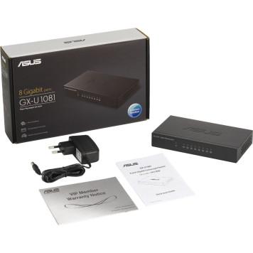 Коммутатор Asus GX-U1081 8G неуправляемый -4
