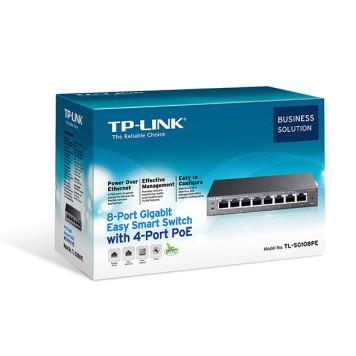 Коммутатор TP-Link TL-SG108PE 8G 4PoE 55W управляемый -3