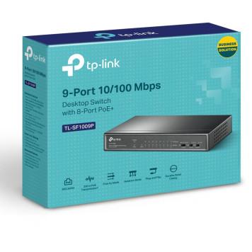Коммутатор TP-Link TL-SF1009P 9x100Mb 8PoE+ 65W неуправляемый -3