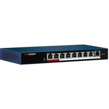 Коммутатор Hikvision DS-3E0109P-E/M(B) 9x100Mb 8PoE+ 58W неуправляемый
