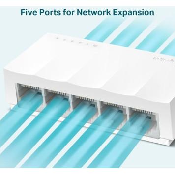 Коммутатор TP-Link LS1005 5x100Mb неуправляемый -2
