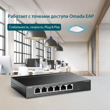 Коммутатор TP-Link TL-SF1006P 6x100Mb 4PoE+ 67W неуправляемый -5