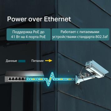 Коммутатор TP-Link TL-SF1008LP 8x100Mb 4PoE 41W неуправляемый -3