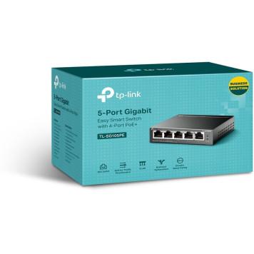Коммутатор TP-Link TL-SG105PE 5G 4PoE+ 65W управляемый -3