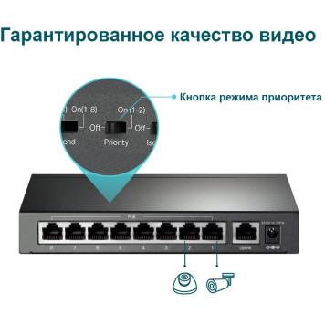 Коммутатор TP-Link TL-SF1009P 9x100Mb 8PoE+ 65W неуправляемый -7