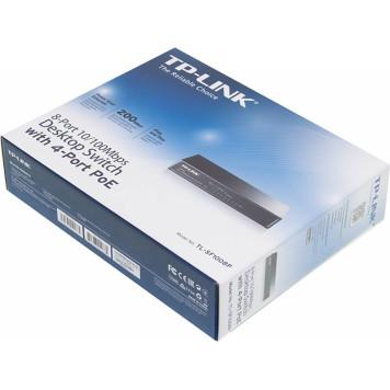 Коммутатор TP-Link TL-SF1008P 8x100Mb 4PoE 57W неуправляемый -4