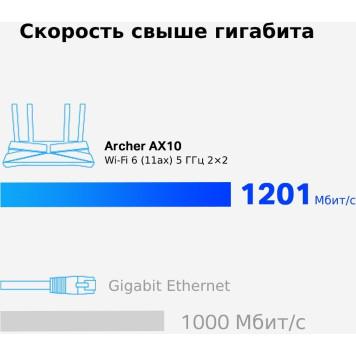 Роутер беспроводной TP-Link Archer AX10 AX1500 10/100/1000BASE-TX черный -6