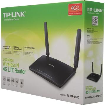 Роутер беспроводной TP-Link TL-MR6400 N300 10/100BASE-TX/4G cat.4 черный -3