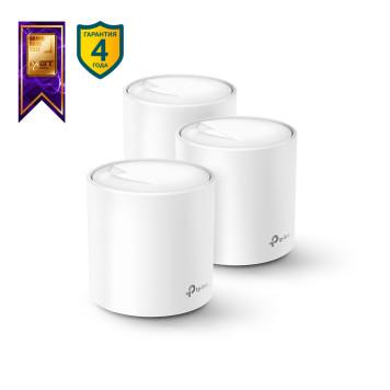 Бесшовный Mesh роутер TP-Link DECO X20(3-PACK) AX1800 10/100/1000BASE-TX белый -6