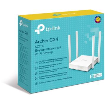Роутер беспроводной TP-Link Archer C24 AC750 10/100BASE-TX белый -6