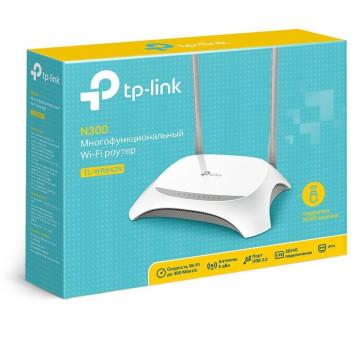 Роутер беспроводной TP-Link TL-WR842N N300 10/100BASE-TX/4G ready белый