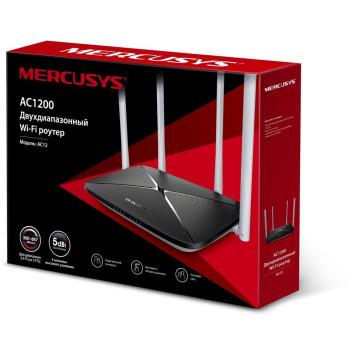 Роутер беспроводной Mercusys AC12 AC1200 10/100BASE-TX черный -1