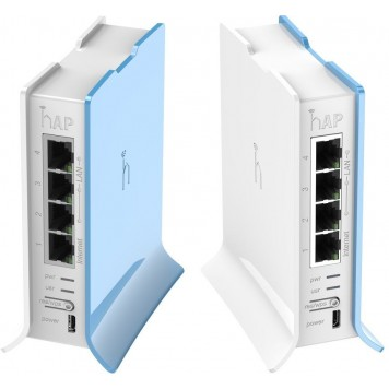 Роутер беспроводной MikroTik hAP lite (RB941-2ND) N300 10/100BASE-TX белый -1