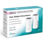 Бесшовный Mesh роутер TP-Link Deco E4 (DECO E4(2-PACK)) AC1200 10/100BASE-TX белый (упак.:2шт)