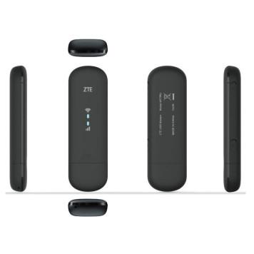 Модем 2G/3G/4G ZTE MF79RU USB Wi-Fi Firewall +Router внешний черный