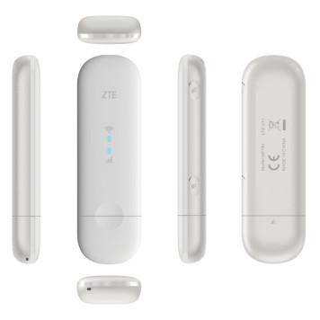 Модем 2G/3G/4G ZTE MF79RU USB Wi-Fi Firewall внешний белый