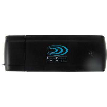 Модем 2G/3G/4G DS Telecom DSA901 USB внешний черный -1