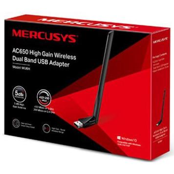 Сетевой адаптер WiFi Mercusys MU6H AC650 USB 2.0 (ант.внеш.несъем.) 1ант. -2