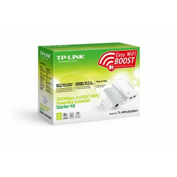 Сетевой адаптер Powerline TP-Link TL-WPA4220KIT AV600 Fast Ethernet -2