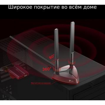 Сетевой адаптер WiFi + Bluetooth TP-Link Archer TX3000E AX3000 PCI Express (ант.внеш.съем) 2ант. -2