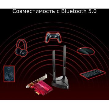 Сетевой адаптер WiFi + Bluetooth TP-Link Archer TX3000E AX3000 PCI Express (ант.внеш.съем) 2ант. -4