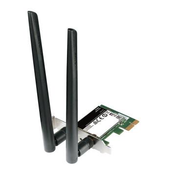 Сетевой адаптер WiFi D-Link DWA-582 PCI Express (ант.внеш.съем) 2ант.