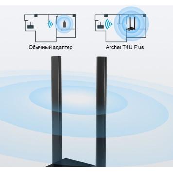 Сетевой адаптер WiFi TP-Link Archer T4U Plus AC1300 USB 3.0 (ант.внеш.несъем.) 2ант. -6