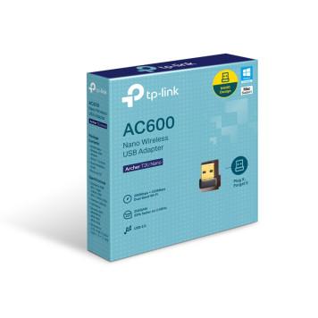 Сетевой адаптер WiFi TP-Link Archer T2U NANO AC600 USB 2.0 -2