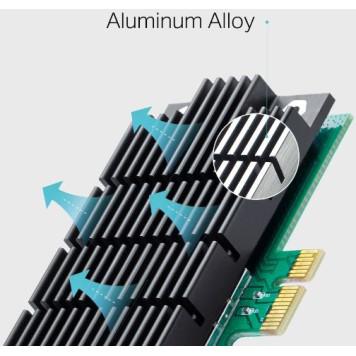 Сетевой адаптер WiFi TP-Link Archer T4E AC1200 PCI Express (ант.внеш.съем) 2ант. -2