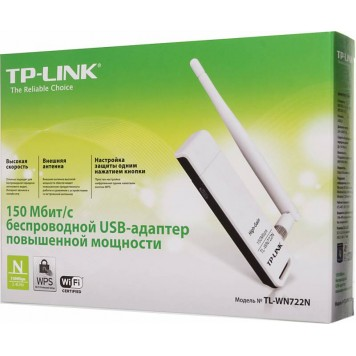 Сетевой адаптер WiFi TP-Link TL-WN722N N150 USB 2.0 (ант.внеш.съем) 1ант. -13