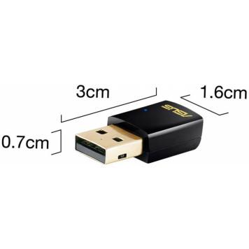 Сетевой адаптер WiFi Asus USB-AC51 AC600 USB 2.0 2ант. -2