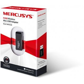 Сетевой адаптер WiFi Mercusys MW300UM N300 USB 2.0