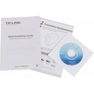 Сетевой адаптер WiFi TP-Link TL-WN781ND N150 PCI Express (ант.внеш.съем) 1ант. -5