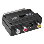 Адаптер аудио-видео Buro SCART (m)/3хRCA (f)/S-VIDEO (f) черный (BSP005)